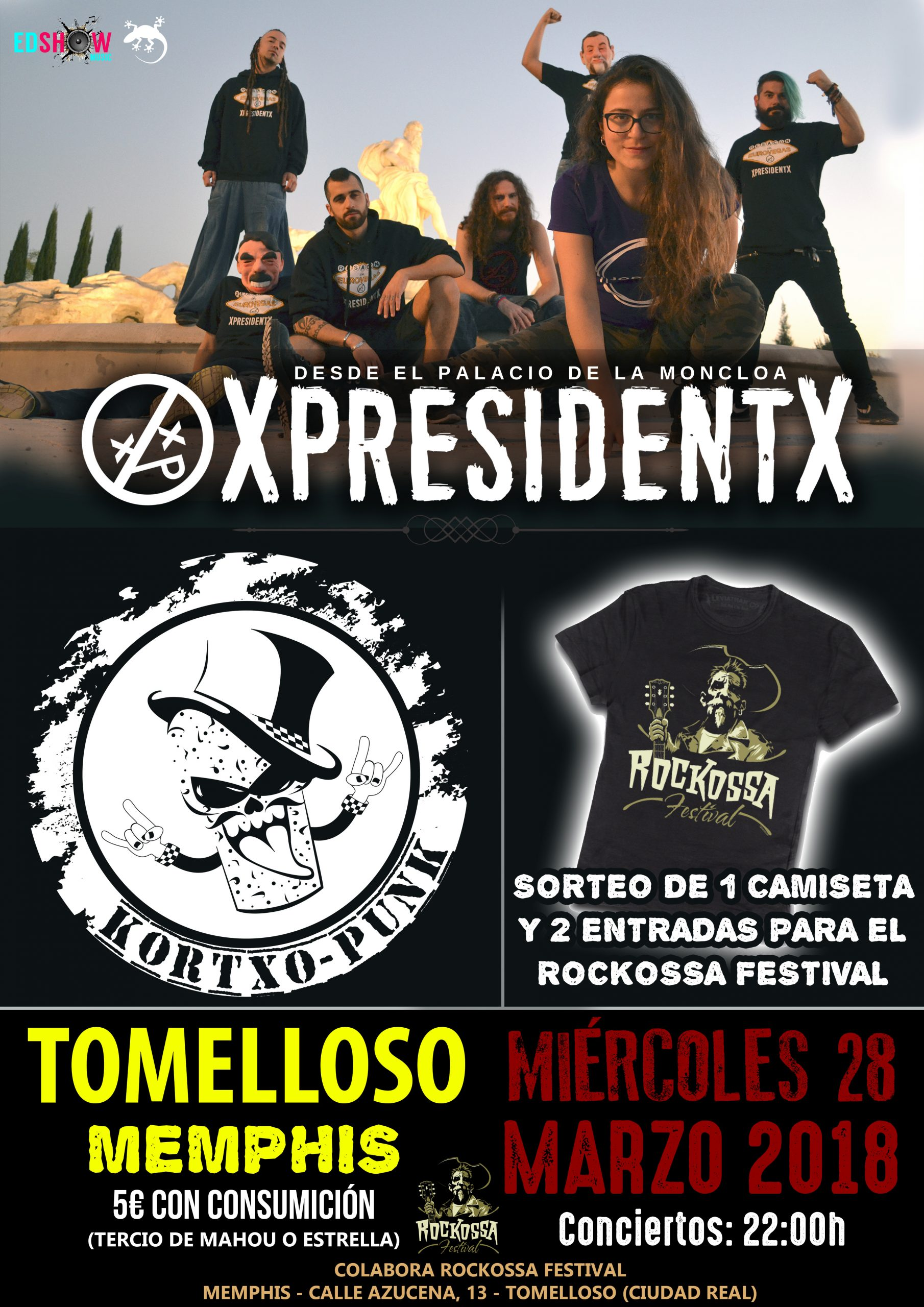 Grupo Rap Metal Hardcore XpresidentX en Tomelloso