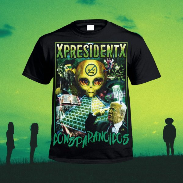 camiseta xpresidentx consparanoicos rap metal madrid