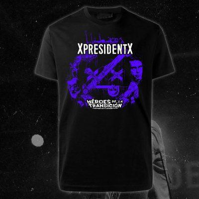 xpresidentx-rap-metal-españa-camiseta-negra-heroes-de-la-transicion