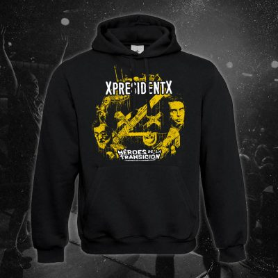 xpresidentx-rap-metal-españa-sudadera-negra-heroes-de-la-transicion